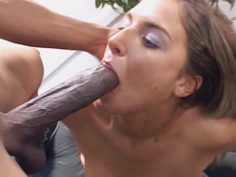 Small titted rides huge cock. Dark haired cutie sucking fucking big dong.