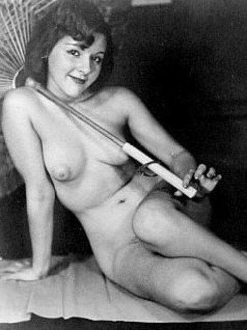 Nude women and black white vintage